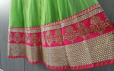 Indian Party Wear Bollywood Anarkali Lengha choli with blouse pice. 3