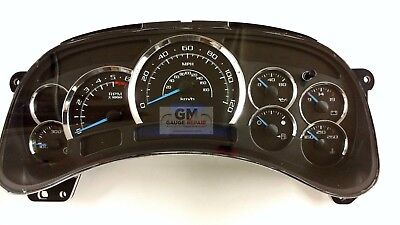 03 04 05 Cadillac Escalade Gauge Face for Silverado Tahoe Sierra Suburban New