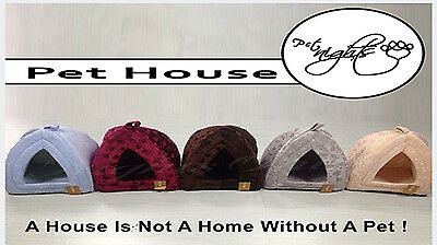 Small & Large Pet House, Soothed Comfortable Cat Dog Igloo Treat Lair 3