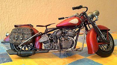 Moto De Metal Vintage Para Decoración 28 Cm 5
