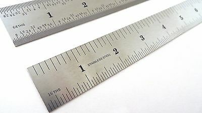 "Taytools  12"" Machinist Ruler Rule 4R (8th 16th 32th 64th) Stainless Steel 2"