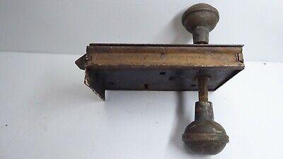 Antique H&T Vaughan Victorian Door Rim Latch Lock Brass Knob 5