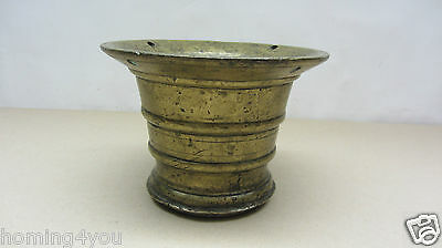 XL antiker Mörser Pistill Stößel massiv Bronze 4,1 Kg 7