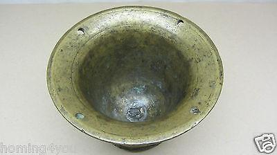 XL antiker Mörser Pistill Stößel massiv Bronze 4,1 Kg 8