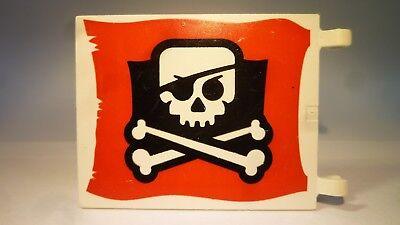 Lego® Fahne Flagge Piraten 5 Stück 2x2 2335p30 Totenkopf Jolly Roger