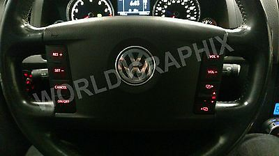 2005 VW Touareg Button Decals 7 Sets AC Radio With Navigation Steering Window