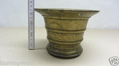XL antiker Mörser Pistill Stößel massiv Bronze 4,1 Kg 11