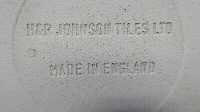Hr Johnson England Pottery Tile Australian Painting Signed Pot Stand 6