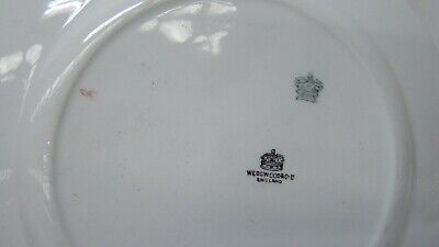 Antique Wedgwood Majolica Pottery Dinner Plates Cobalt Blue Fruit Decorated 5