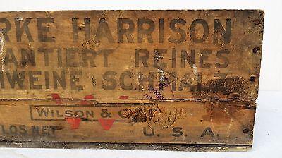 Tante Emma Laden Krämerladen alte Holzkiste Harrison Made in USA Schmalz Schwein 5