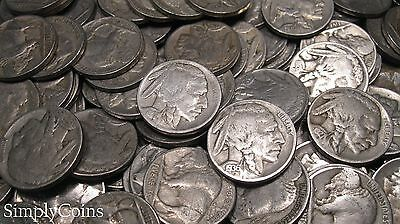 Full Date Indian Head Buffalo Nickel Coin Lot Set Mixed Date Roll 40 6