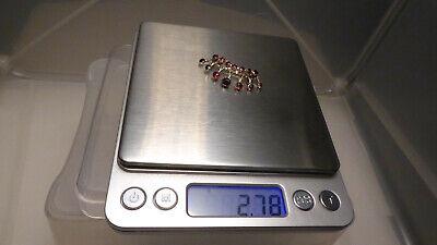 19. Jh. antik Brosche Silber solitär Granat Facetten zierliche Krone 38 mm 2,78g 11