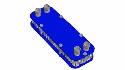 Stainless Heat Exchanger Wort-Cooler Plattenwürzekühler Aquarium Heating 3
