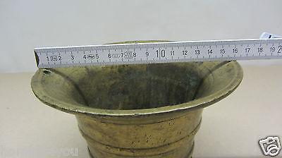 XL antiker Mörser Pistill Stößel massiv Bronze 4,1 Kg 10