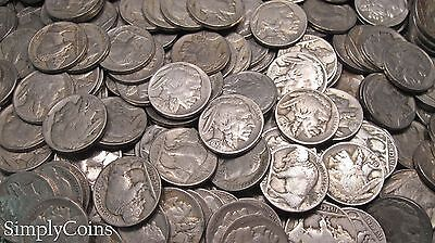 Full Date Indian Head Buffalo Nickel Coin Lot Set Mixed Date Roll 40 5