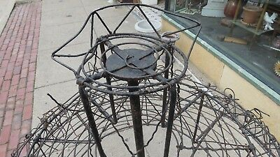 Victorian Antique Cast Iron, Bridal Floral Display Wedding Funeral 4ft Round