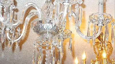 Antique Maria Theresa Crystal Prism 5 Arm Chandelier from Boston Archit Salvage 8