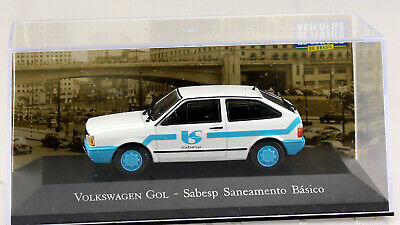 VW Gol Volkswagen Südamerika blau-weiß 1:43 Atlas Modellauto