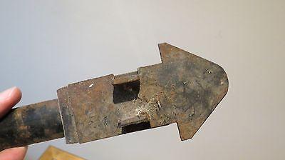 Antique Screen Barn Door Pull Handle Primitive Iron 10  Inch Mechanical Lock 6