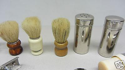 Vintage Rasier Zubehör Barbier Gillette made in USA , Wilkinson, Rotbart Pinsel 12