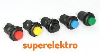 12pcs Druckschalter Miniatur Taster Metallschaft N//O 3A mini Taster Schließer
