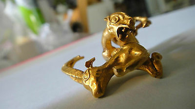 Scarce ! Ancient Russian Scythian Pure 24K Gold Figurine Leopard Hunt A Deer 2