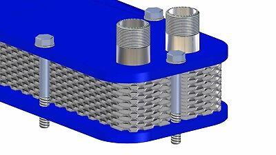 Stainless Heat Exchanger Wort-Cooler Plattenwürzekühler Aquarium Heating 4