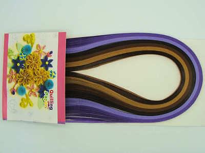 120 bandes de papier QUILLING 5mmx52cm 6 couleurs MIX9 Loisirs créatifs DIY