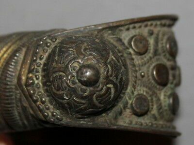 Antique Greek Orthodox Folk Bronze Fertility Bangle Bracelet