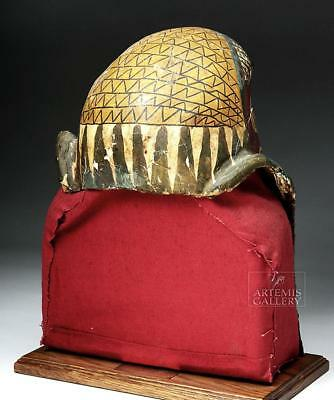 Egyptian Ptolemaic Gilded Child Sarcophagus Helmet Mask Lot 8
