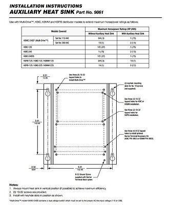 KB Electronics auxiliary heatsink 9861 for KBIC, KBMD, KBMG, and KBMM controls 3