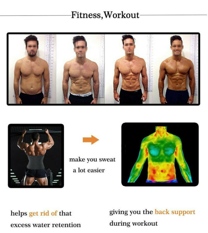 Men Weight Loss Waist Trainer Slimming Sauna Neoprene Slimming Body Shaper HOT 7