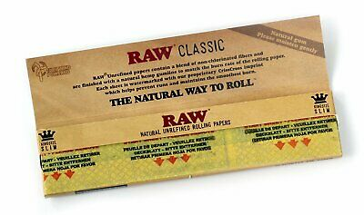 Raw Rizla Classic King Size Slim 110Mm Rolling Paper With Roach Filter Tips Uk 2