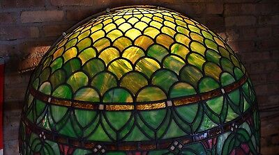 Turn of the Century Stained Glass Canopy for Back Bar R. Williamson Mfg. Chicago 8