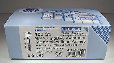 PARCO Holzbauschrauben Senkkopf 8,0 x 80 mm TX40 mit ETA Zulassung 50 St/ück gelb verzinkt