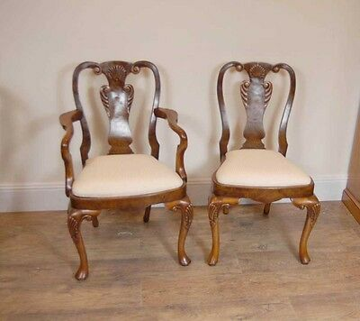 10 English Queen Anne Walnut Dining Chairs Ann Chair 8