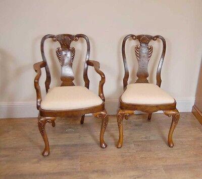 10 English Queen Anne Walnut Dining Chairs Ann Chair 8
