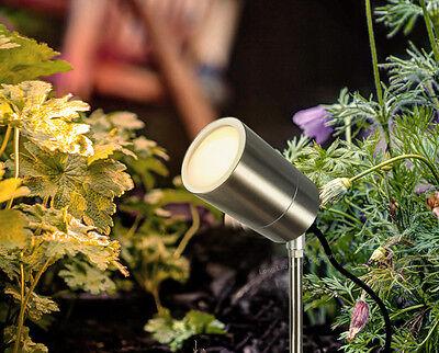 4 Modern Stainless Steel Outdoor Garden Landscape Ground Spike Spot Lights 10