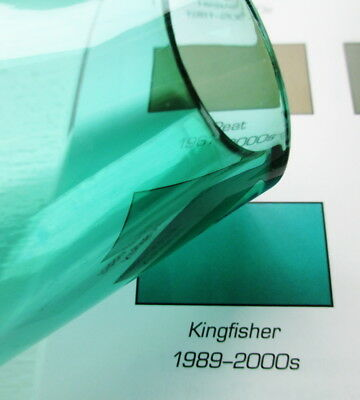 "Caithness Kingfisher Teal Vase 7 1/4"" Teardrop Shape Scotland Art Glass Vintage 6"