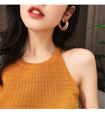 2018 Fashion Large Circle Geometry Metal Earring Ear Stud Earrings Women Jewelry 3