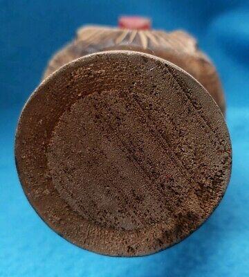 Vintage Black Forest Tyrolean Carved Wooden Screw Nutcracker Wood Nut Cracker 8
