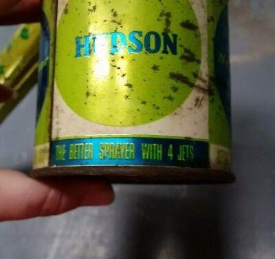 Vtg Old Hudson Nebu- Lizor Bug Fly Sprayer Duster Tin Litho Advertising Display