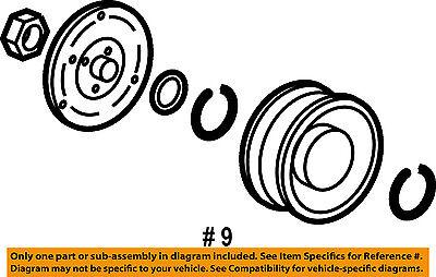 HONDA OEM 07-11 CR-V Compressor-Clutch 38900RZA014