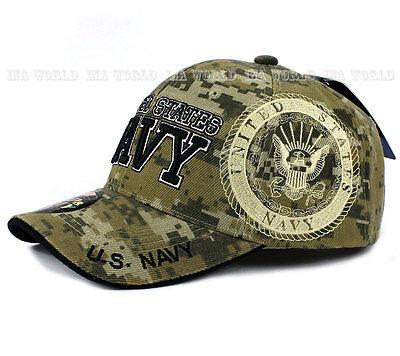 3dea38697db ... U.S. NAVY hat Military NAVY Official Licensed Baseball cap Strap-  Digital Camo 3