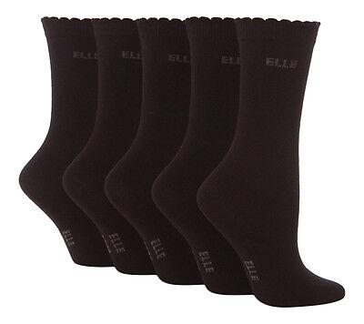 5 Pairs of Girls YE001 Elle Cotton Ankle Socks Plain Colours all sizes 2
