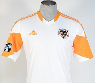 ... Adidas ClimaCool Houston Dynamo White Short Sleeve Soccer Jersey Mens  NWT a15fea598