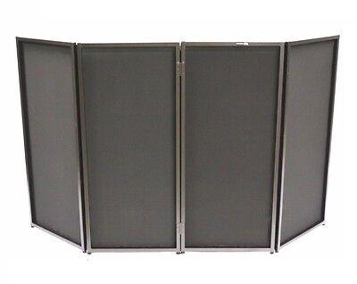 CedarsLink DJ Event Facade White/Black Scrim Metal Frame Booth +Travel Bag Case 7