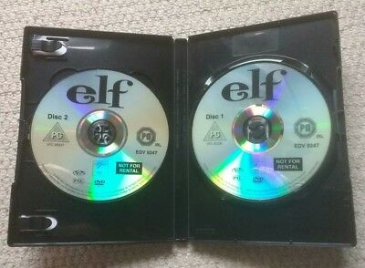 Elf DVD (2 Disc set) Will Ferrell James Caan Peter Dinklage CHRISTMAS COMEDY 3