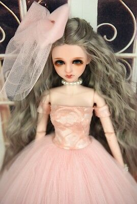 Mimi Collection MSD SD Toy Clothes 1//4 BJD Doll Pink Wedding dress with veil