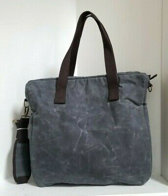 CB STATION Waxed Canvas Multi Pocket Travel Tote / Bag - NEW WITHOUT TAGS 2